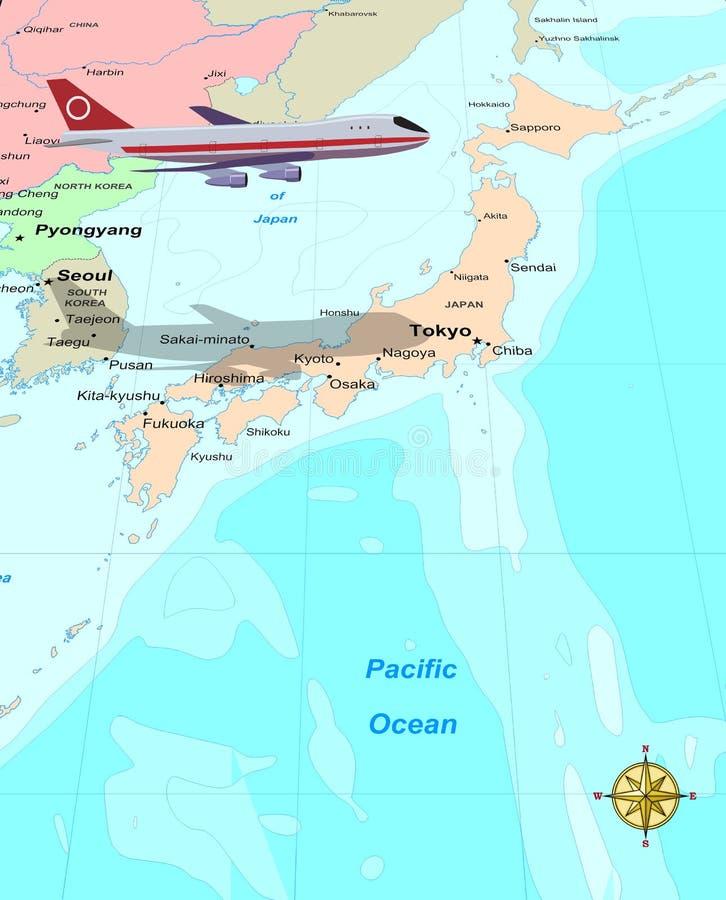 Recorrido Japón ilustración del vector