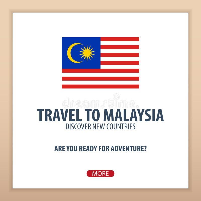 Recorrido a Malasia Descubra y explore los nuevos países Viaje de la aventura libre illustration