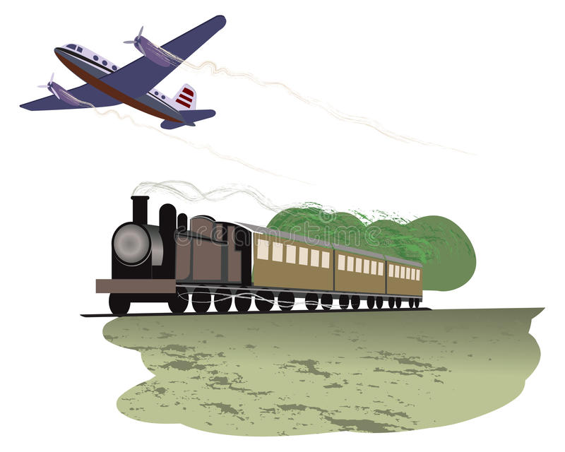 Recorrido por transporte libre illustration