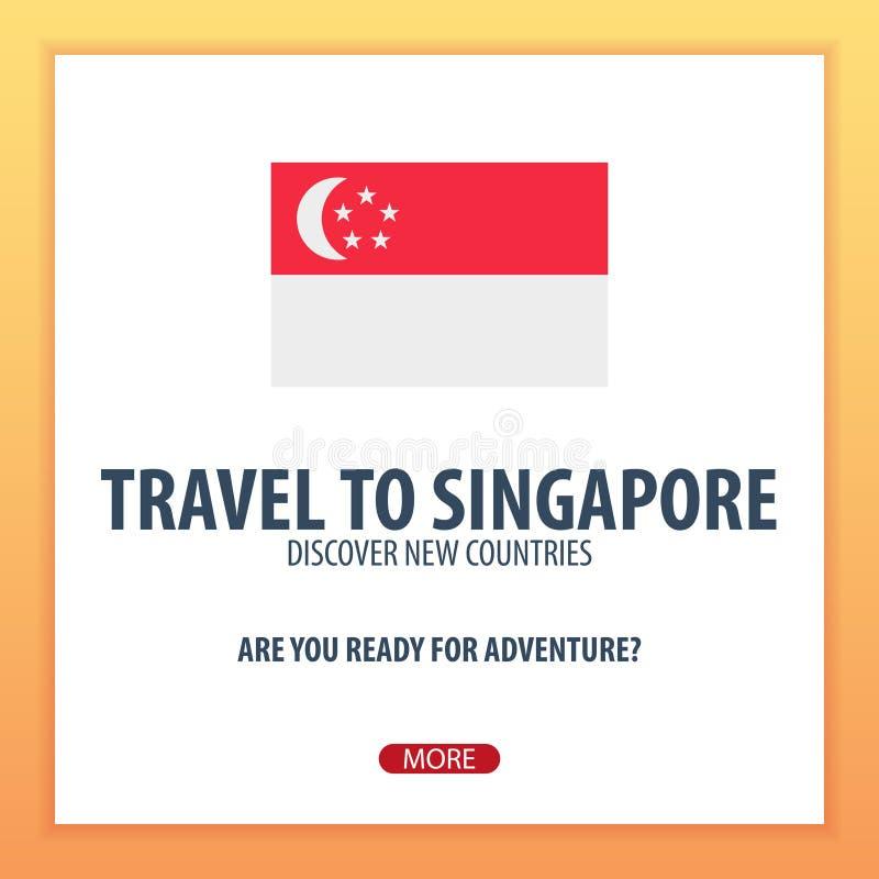 Recorrido a Singapur Descubra y explore los nuevos países Viaje de la aventura stock de ilustración
