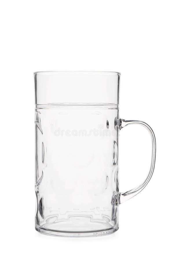 Recorte de Crystal Beer Mug vacío limpio imagen de archivo libre de regalías