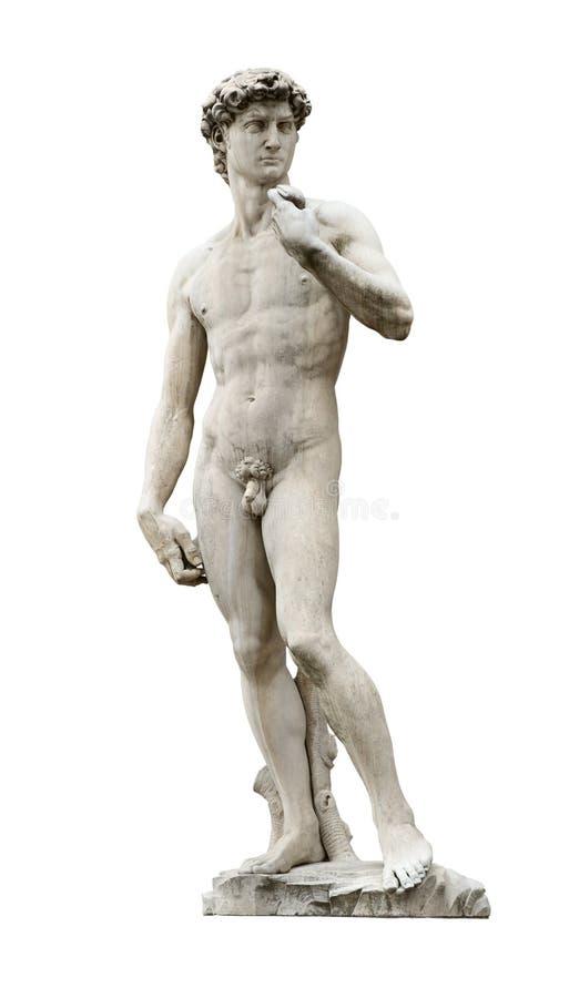Recorte de David de Michelangelo imagen de archivo libre de regalías