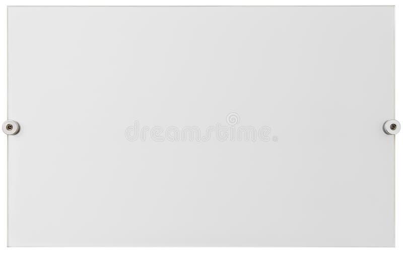 Recorte de la placa del plexiglás imagen de archivo libre de regalías