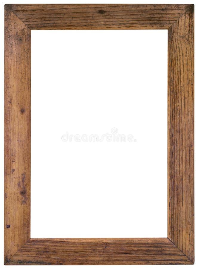 Recorte del marco de madera imágenes de archivo libres de regalías