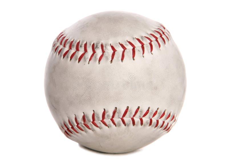 Recorte usado del béisbol imagen de archivo