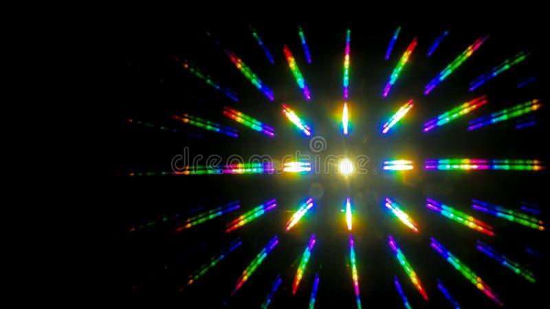 Recouvrement coloré multi d'éclat d'étoile d'arc-en-ciel photographie stock libre de droits