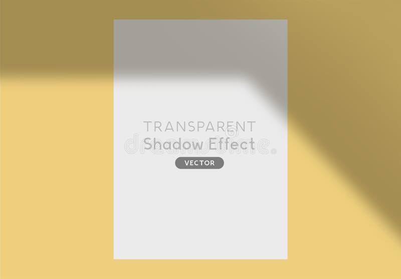 Recouvrement d'effet d'ombre de vecteur illustration de vecteur
