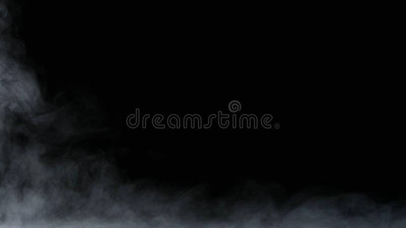 Recouvrement réaliste de brouillard de nuages de fumée de glace carbonique images libres de droits