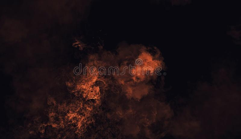 Recouvrements oranges abstraits de texture de fumée de mystère Élément de conception photographie stock libre de droits