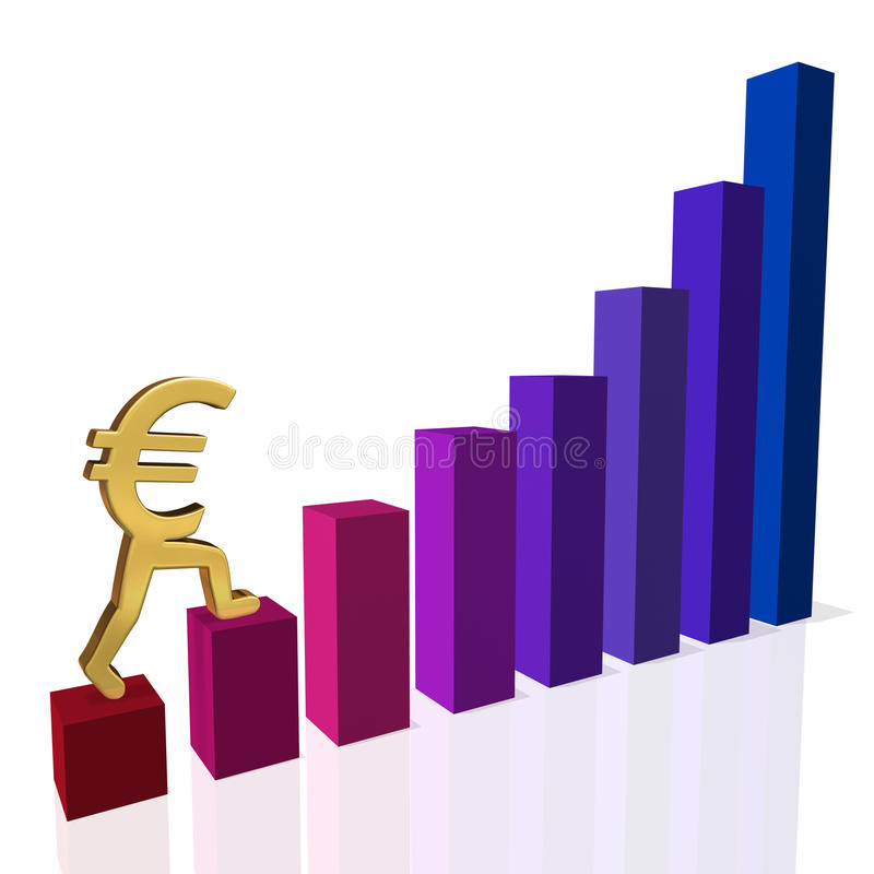 Recovering Euro stock image