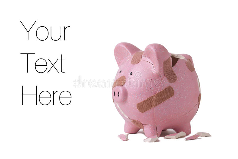 Download Recovering piggy bank stock image. Image of humor, part - 23692339