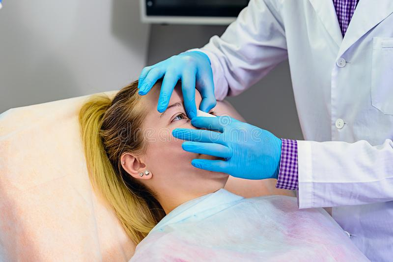 Recovery process after surgery stock image