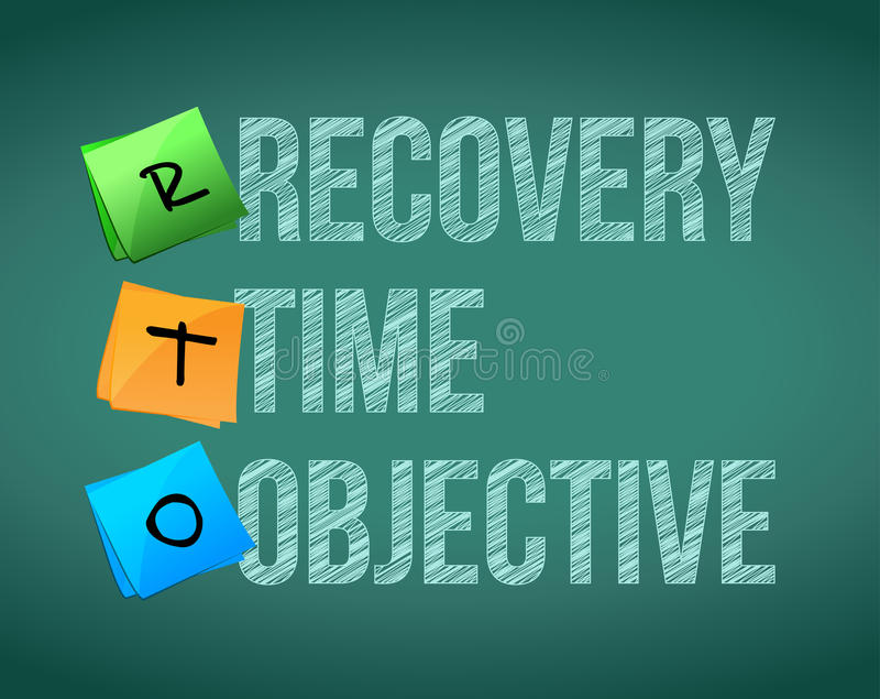 Recovery time objective. Post education illustration design royalty free illustration