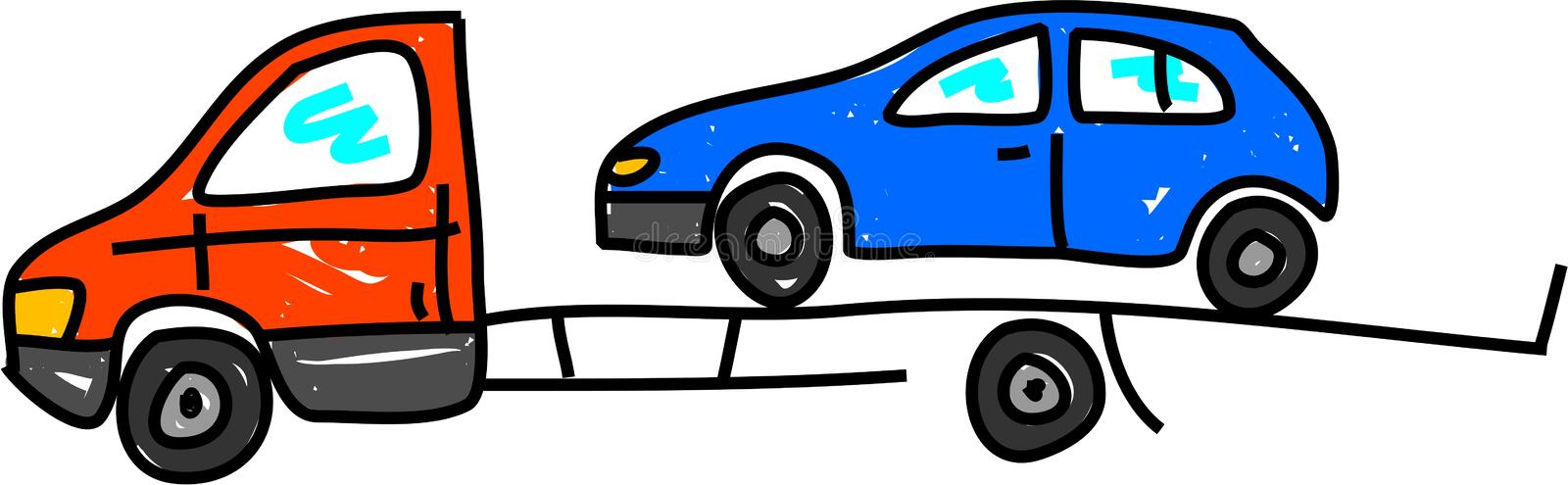 Recovery transporter royalty free illustration