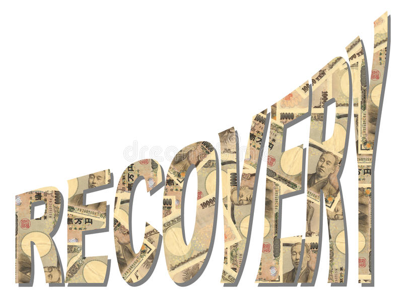Recovery with Yen royalty free illustration