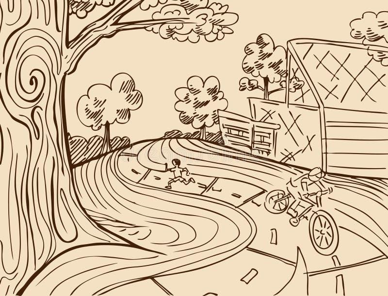 Recreação do parque ilustração royalty free