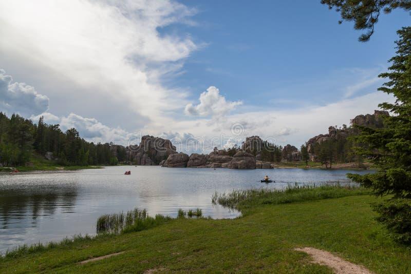Recreação em Sylvan Lake, South Dakota imagens de stock royalty free