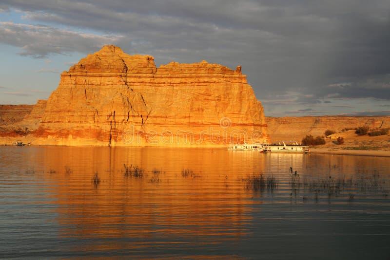 Recreaion en el lago Powell fotos de archivo
