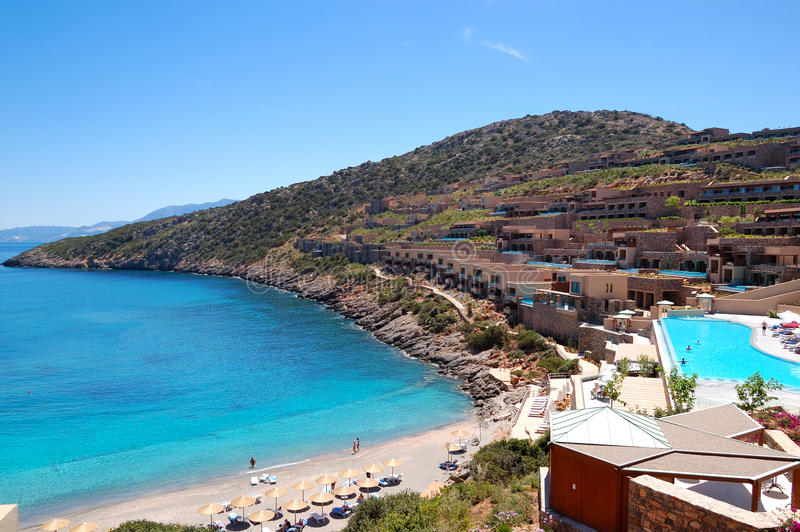 Recreaiton Area And Beach Of The Luxury Hotel Stock Images