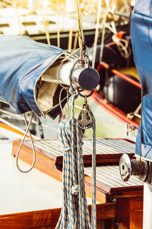 Recreatief jachtdetail stock foto's