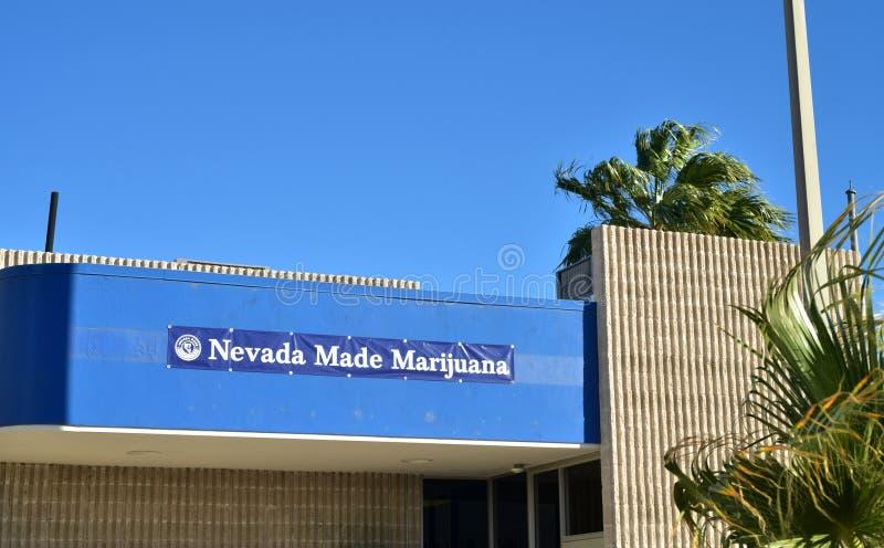 Recreatieve de verkoopapotheek van Nevada Made Marijuana stock fotografie