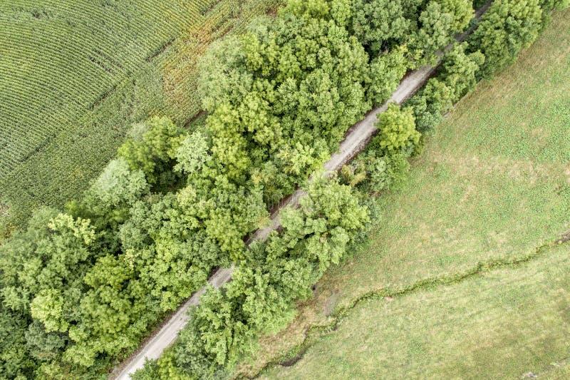 Recreatieve Katy Trail in Missouri - luchtmening stock foto