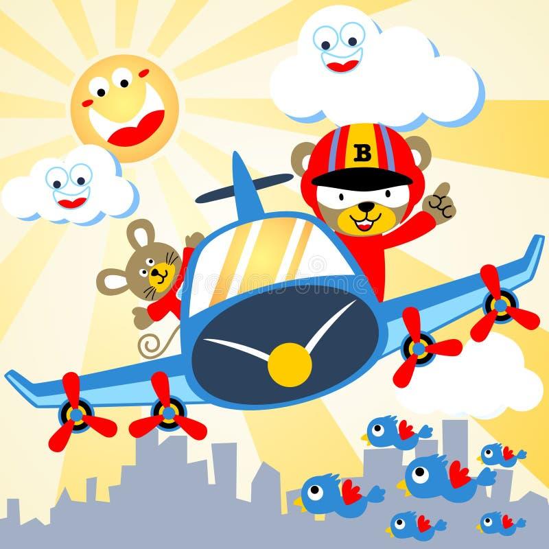Flying fun vector illustration