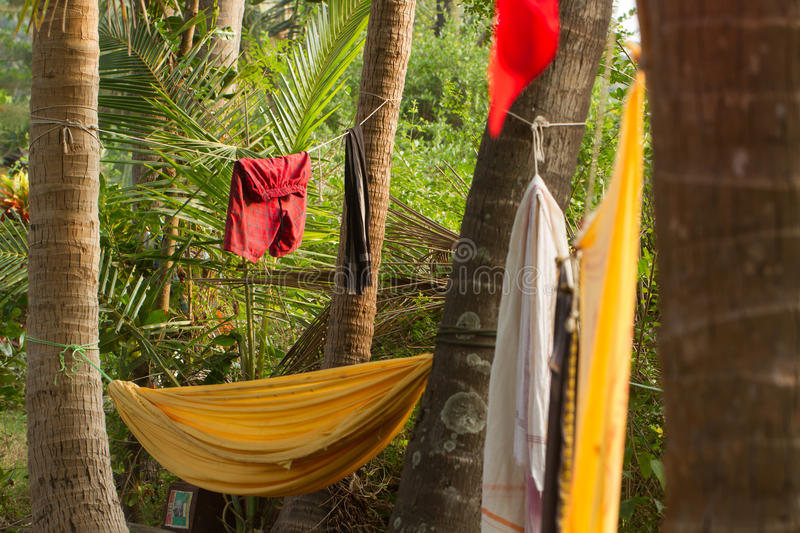 Recreation camp in the jungle stock photography