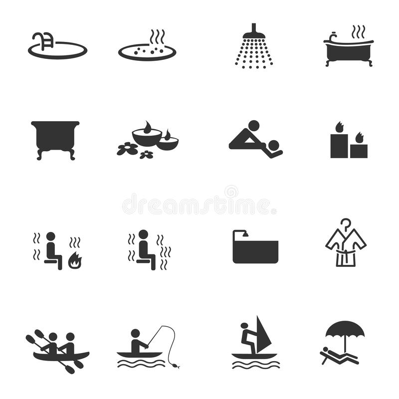 Recreation icons. Recreation and relax icons set vector illustration