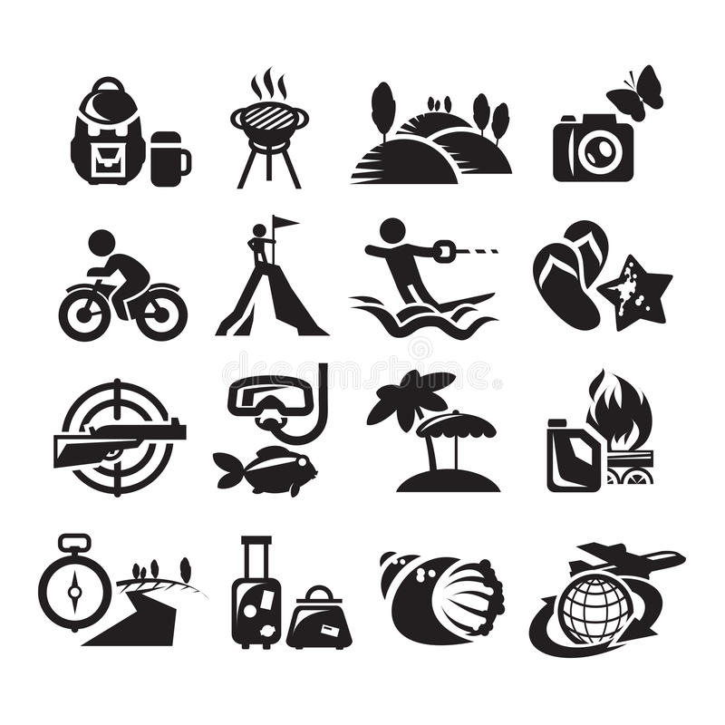 Download Recreation Icons. Vector Illustration Stock Vector - Image: 32021682