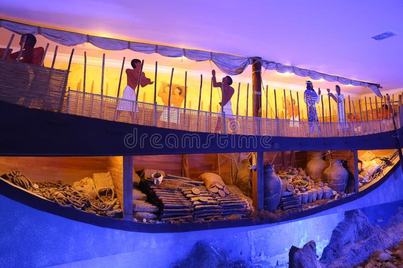 Recreation of a lagan in Bodrum Castle Museum royalty free stock photos