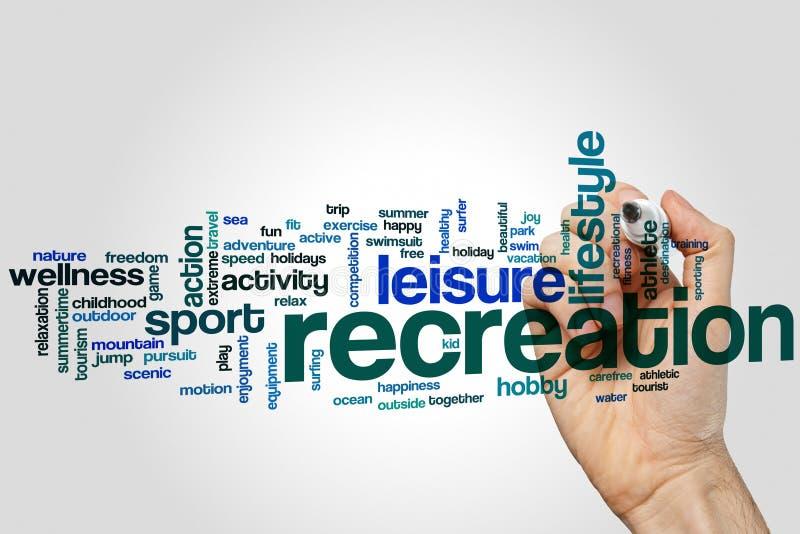 Recreation word cloud stock image