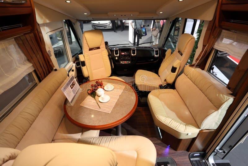 Recreational vehicle interior stock photography