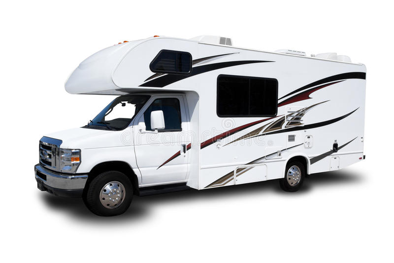 Recreational Vehicle. A Recreational Vehicle on White Background stock images