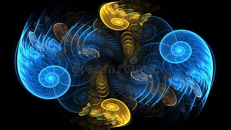 Recreio espiral, tela panorâmico ilustração stock