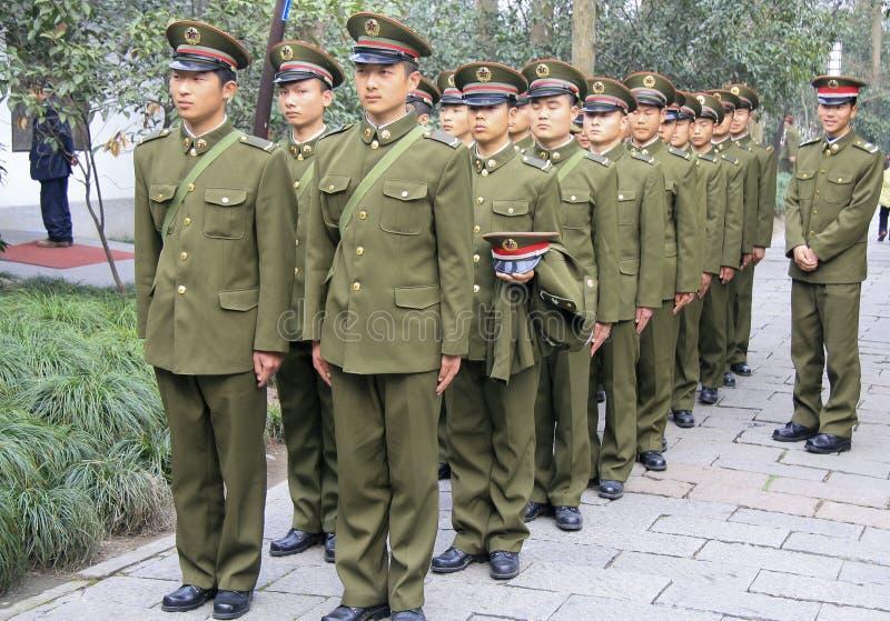 Recrues rouges d'armée à Nanjing images libres de droits