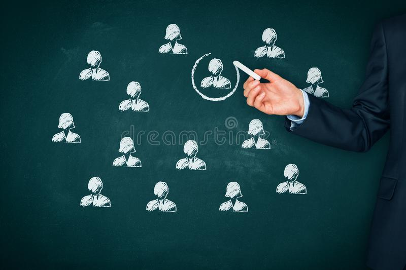 Recruit and hire human resources HR stock photo