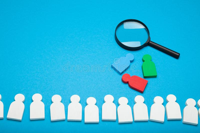 Recruit job career, HR concept. Wanted talent team.  royalty free stock images
