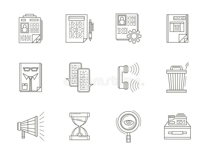 recruiting thin line icons set stock illustration illustration of