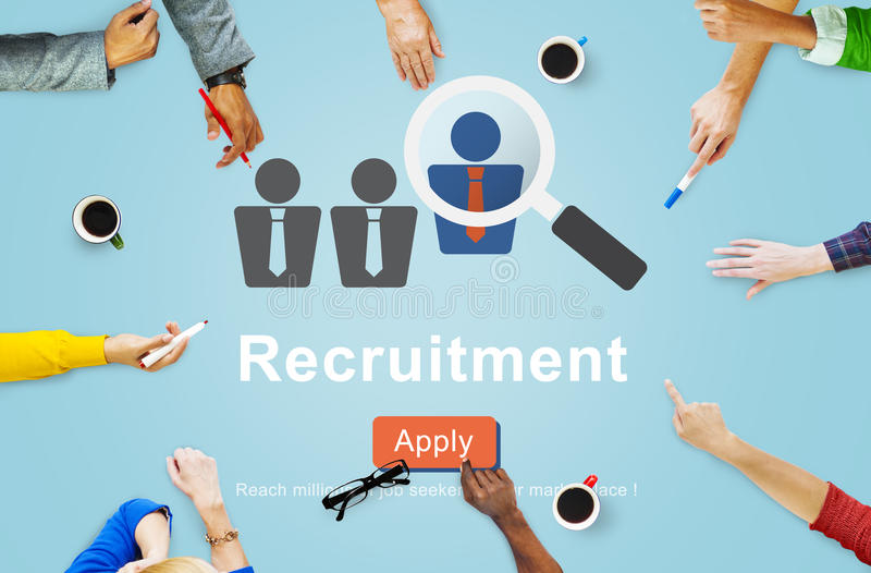 Recruitment Apply Homepage Human Resources Concept.  royalty free stock images