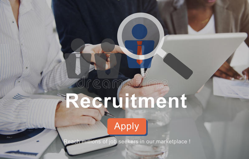 Recruitment Apply Homepage Human Resources Concept. Recruitment Apply Homepage Human Resources stock photos