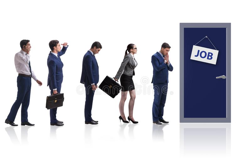 Recruitment concept with business people stock images