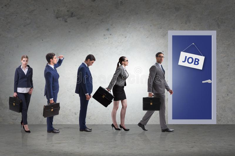 Recruitment concept with business people royalty free stock photography