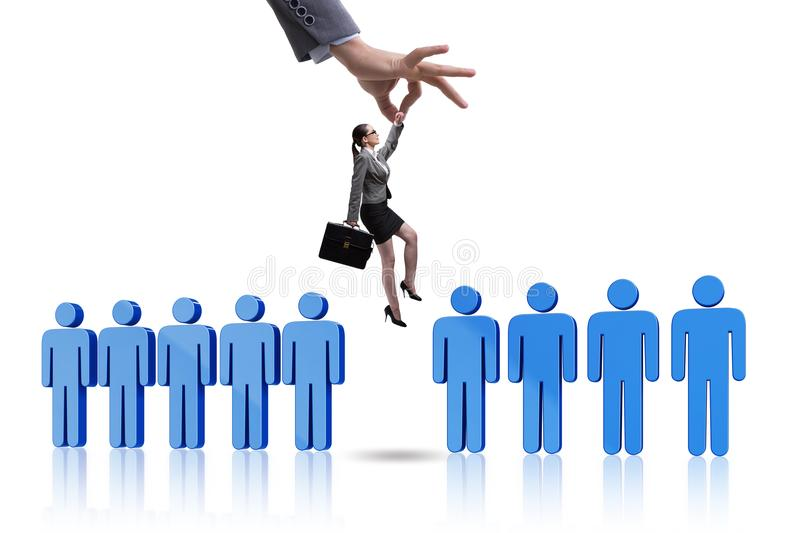 The recruitment concept with hand picking the best employee royalty free stock photos