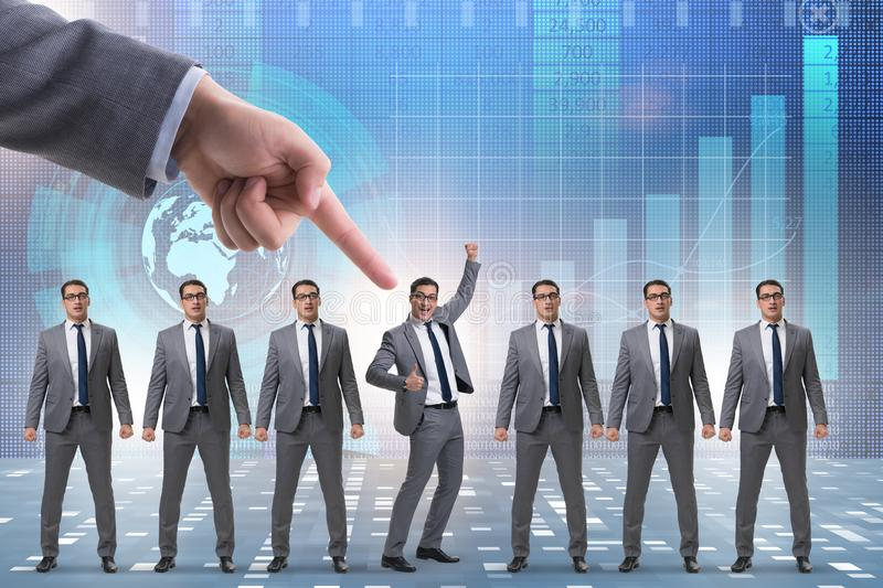 The recruitment and employment concept with selected employee stock photo