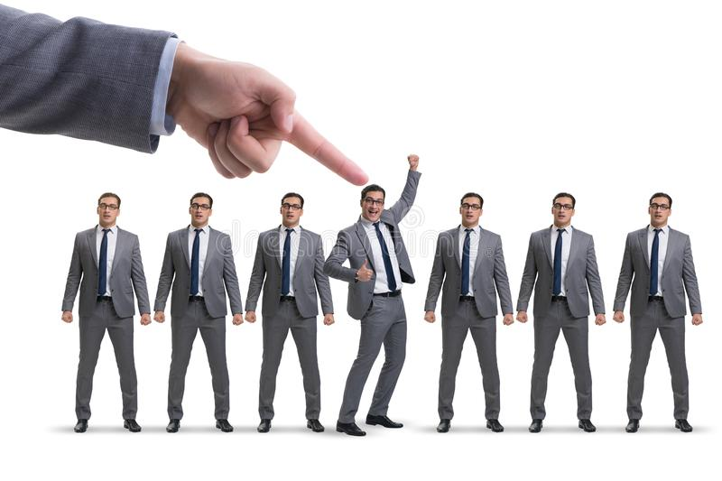 The recruitment and employment concept with selected employee stock images