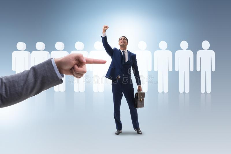 The recruitment and employment concept with selected employee royalty free stock photos