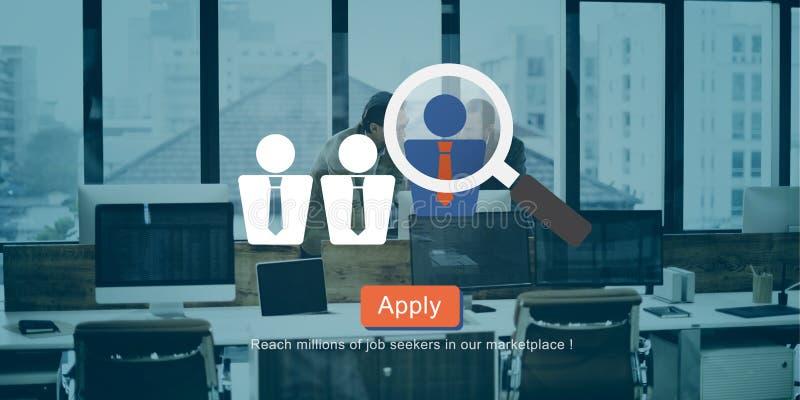 Recruitment Hiring Employment Job Seekers Concept royalty free illustration