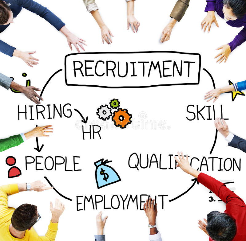 Recruitment Hiring Skill Qualification Job Concept stock photography