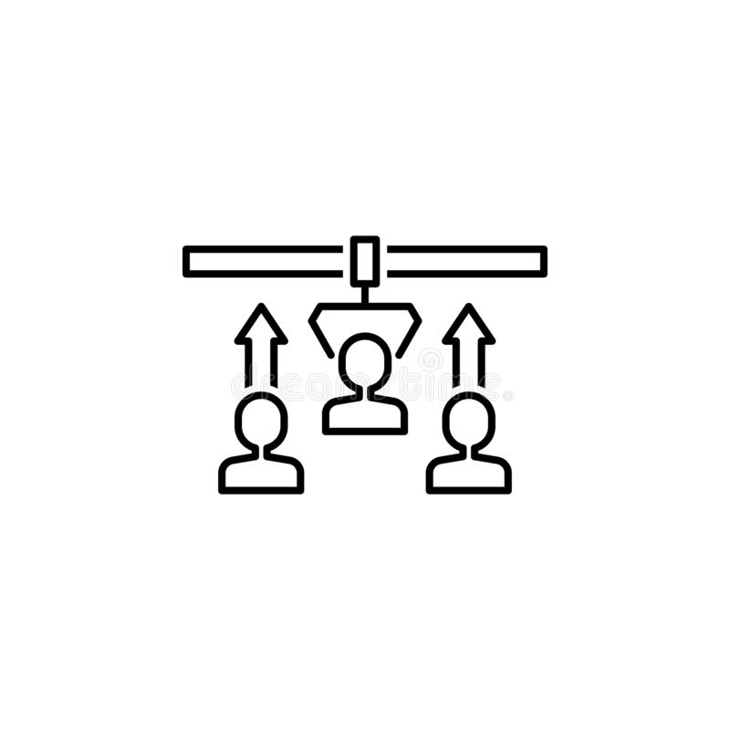 Recruitment icon. Element of interview icon stock illustration